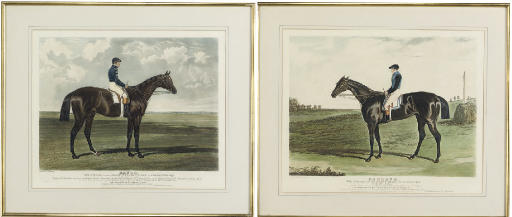 A PAIR OF COLOURED AQUATINTS O