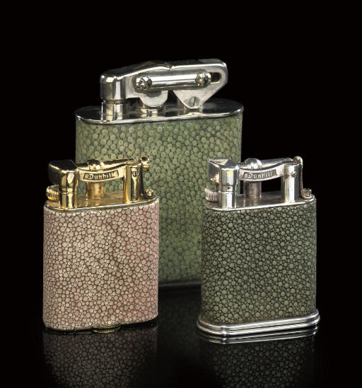A GROUP OF THREE SHAGREEN VENE