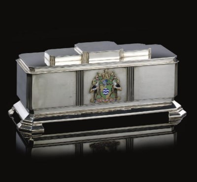 A GEORGE VI SILVER AND ENAMEL