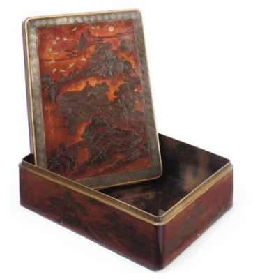 A JAPANESE LACQUER TABLE BOX A