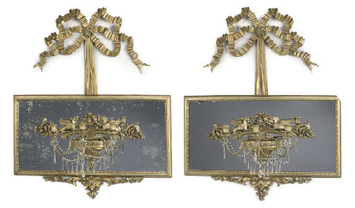 A PAIR OF GILTWOOD GIRONDOLES
