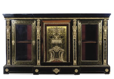 AN ORMOLU MOUNTED BRASS AND TO