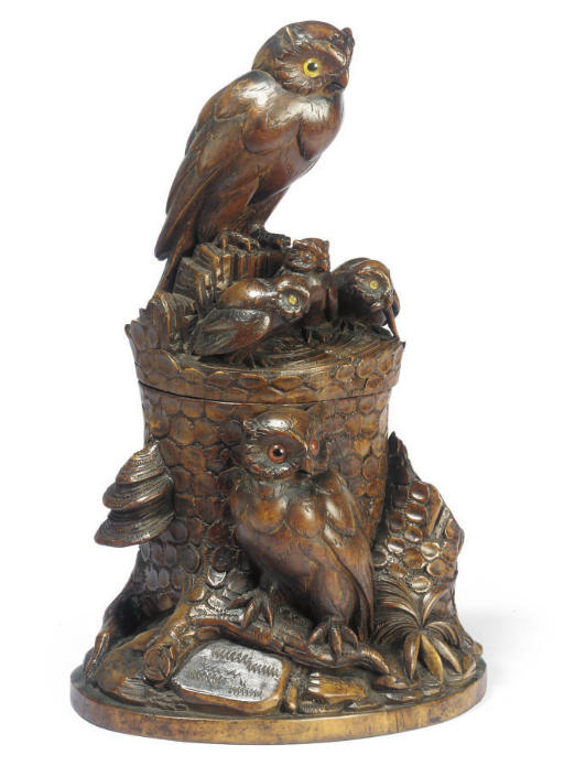 A SWISS 'BLACK FOREST' CARVED