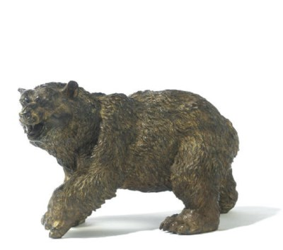 A COLD PAINTED BRONZE MODEL OF