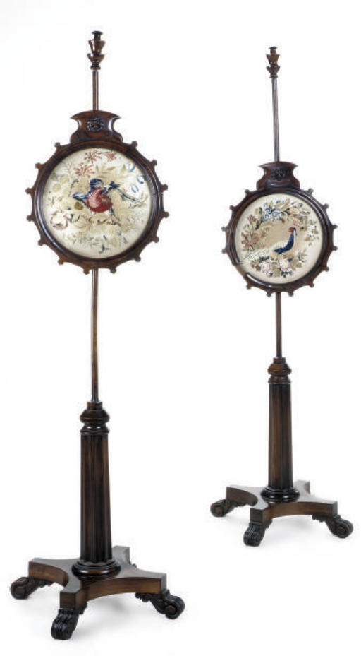 A PAIR OF EARLY VICTORIAN ROSE