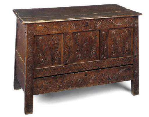 A DORSET OAK CHEST
