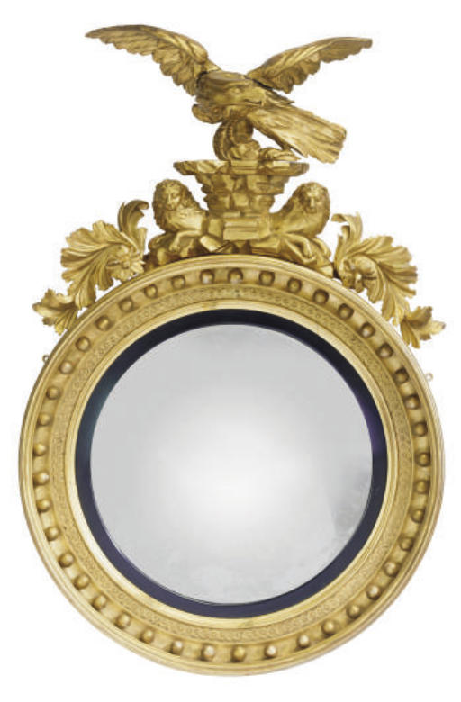 A LATE REGENCY GILTWOOD CONVEX