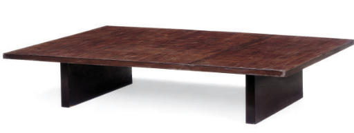 AN ASIAN LOW TEAK TABLE