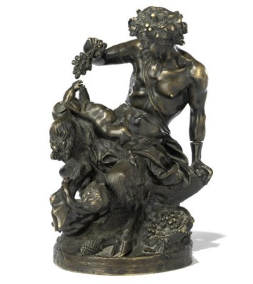 A FRENCH BRONZE GROUP OF BACCH