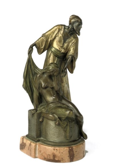 A COLD-PAINTED BRONZE FIGURE G