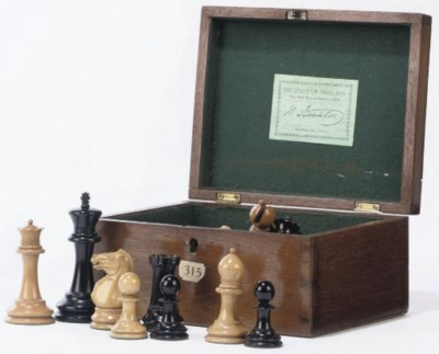 A VICTORIAN BOXWOOD AND EBONIS