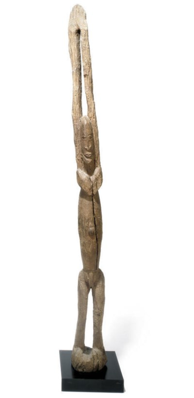 A DOGON FROM MALI PAINTED WOOD
