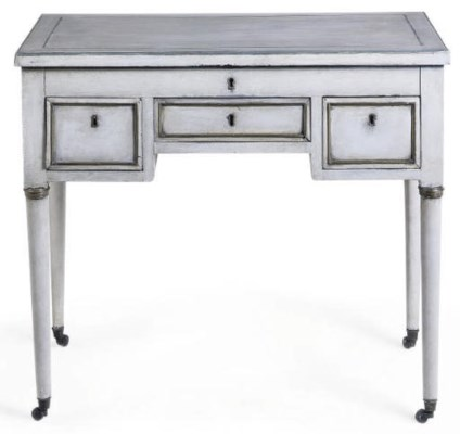 A FRENCH PAINTED DRESSING TABL