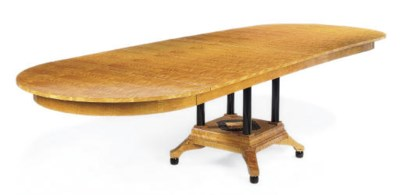 A SATINWOOD AND EBONISED EXTEN