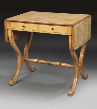 A BIRCH SOFA TABLE