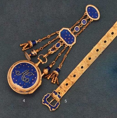 A gold and enamel verge pocket