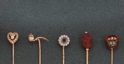 A quantity of gem-set stickpin