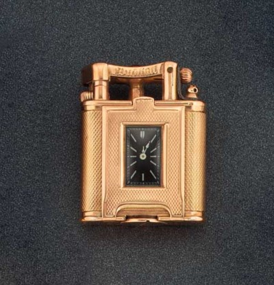 A 9ct. gold, combined watch an