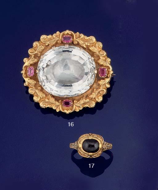 A 16TH CENTURY GOLD, GARNET AN