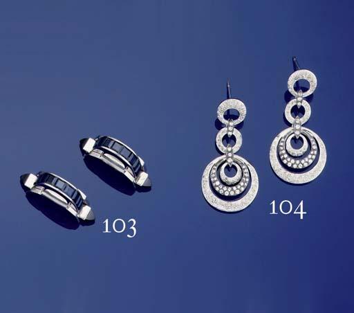A pair of Sapphire cufflinks,