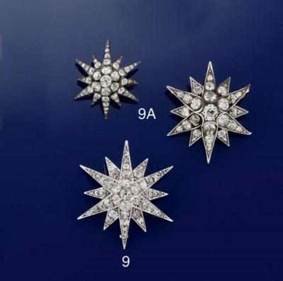 TWO LATE VICTORIAN DIAMOND STA