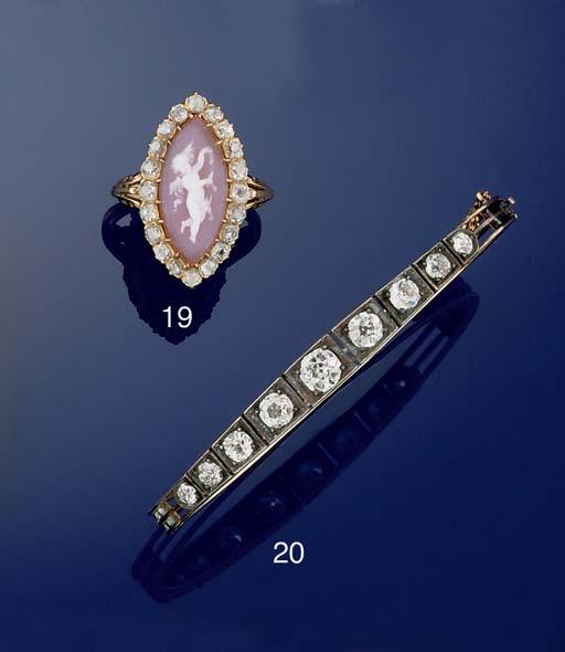 A Victorian diamond bangle