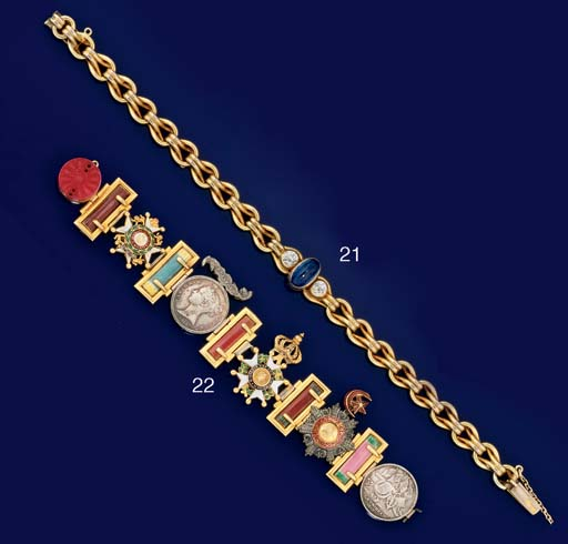 A Victorian gold and silver br