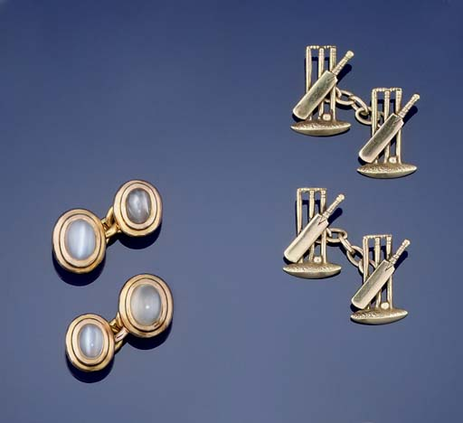 Two pairs of cufflinks