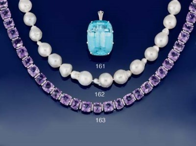 AM AMETHYST AND DIAMOND NECKLA