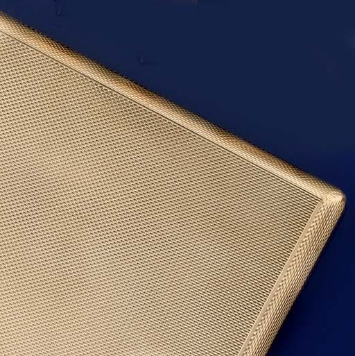 A gold cigarette case