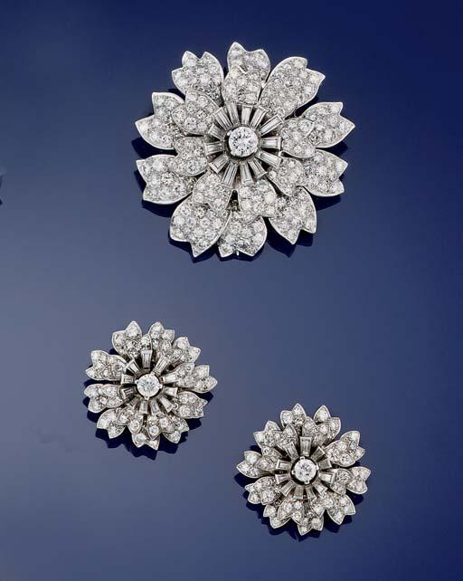 A diamond flowerhead cluster b