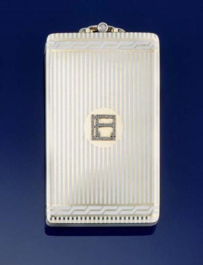 AN ENAMEL AND DIAMOND CARNET D