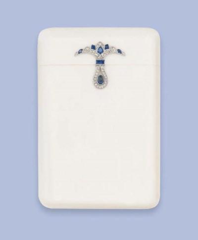 An Art Deco Ivory, diamond and