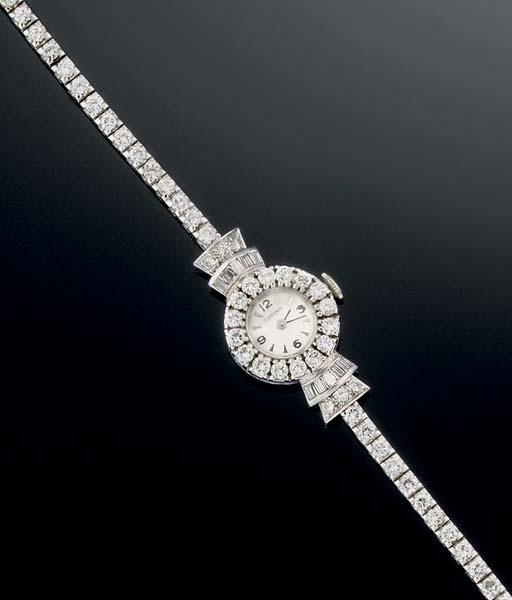 A ladys diamond wristwatch