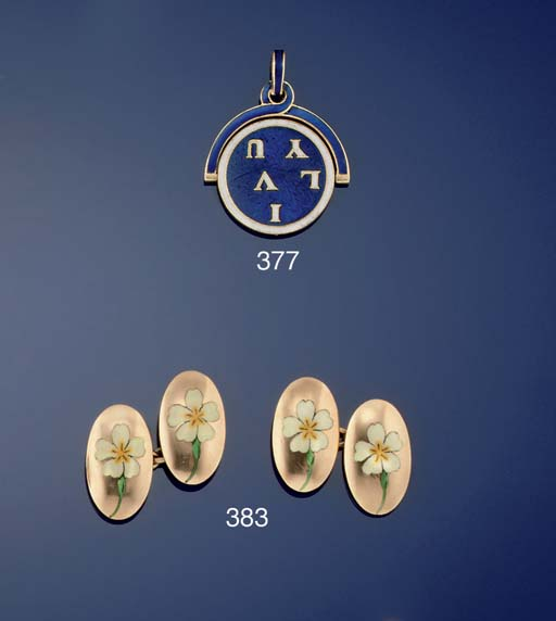 A BELLE EPOQUE GOLD AND ENAMEL