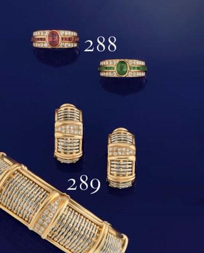 A pair of gem set rings, by Va