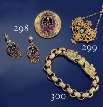 A 19th century gold and amethy