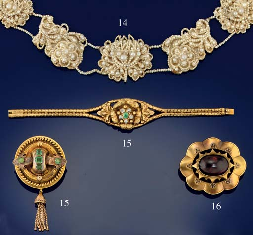 An early 19th century suite of seed pearl jewellery