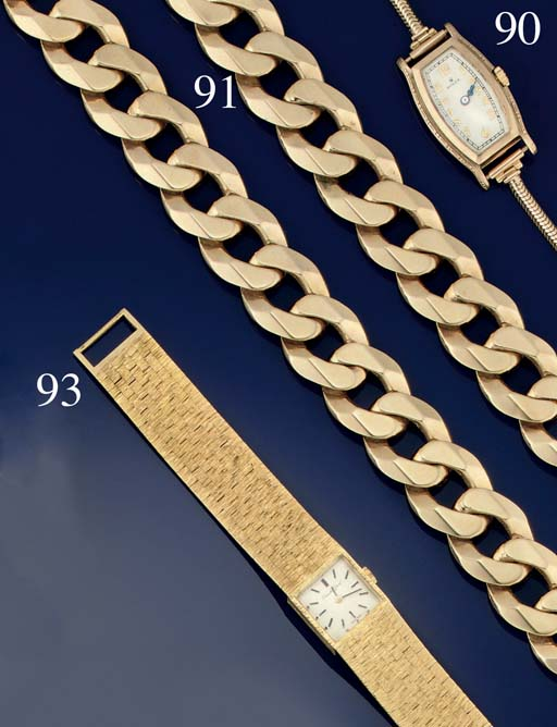 A 9CT. GOLD NECKLACE