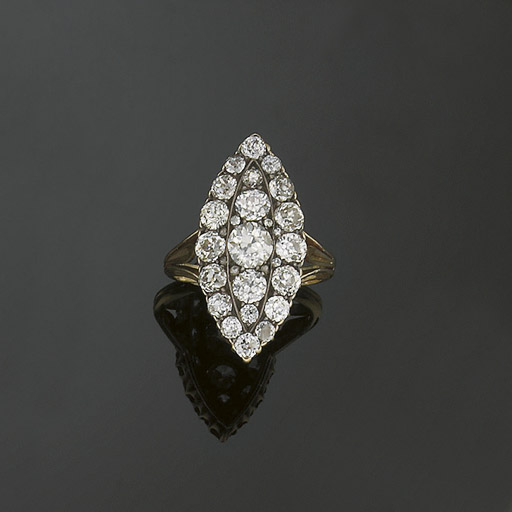A late Victorian diamond clust