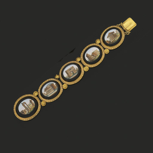A 19th century gold, micromosa