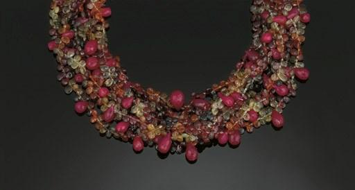 A ruby and vari-coloured sapph