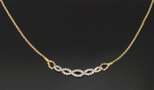 A diamond necklace, by Boucher