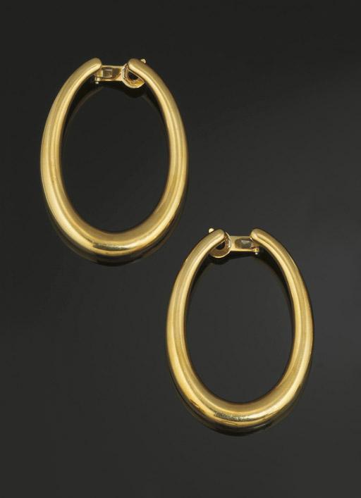 A pair of hoop earrings, by Bo