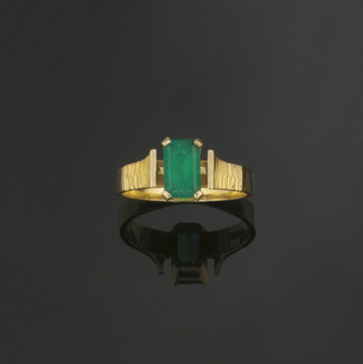 A GROUP OF EMERALD JEWELLERY