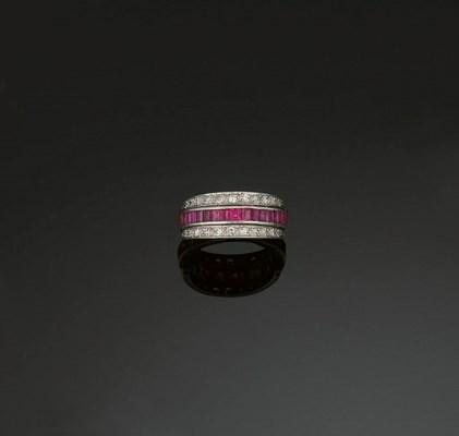 A diamond sapphire and ruby tr