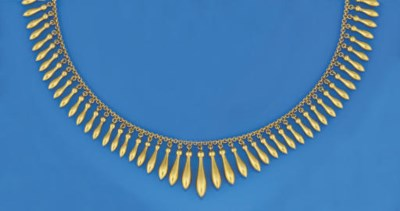 A LATE 19TH CENTURY GOLD NECKL
