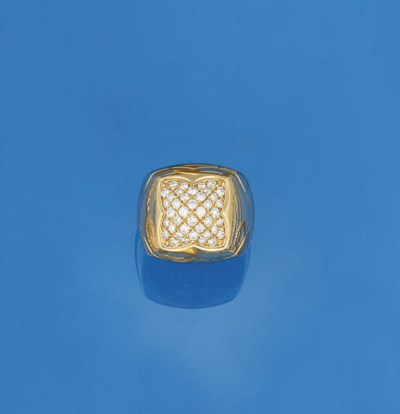 A diamond set ring, by Bulgari
