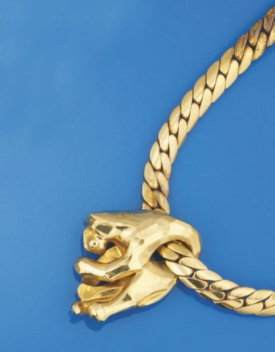 A hanging panther necklace, by