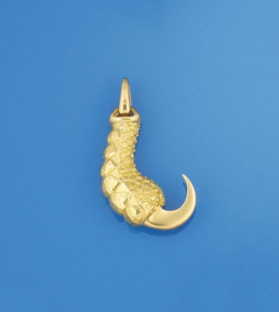 A gold novelty pendant, by Car